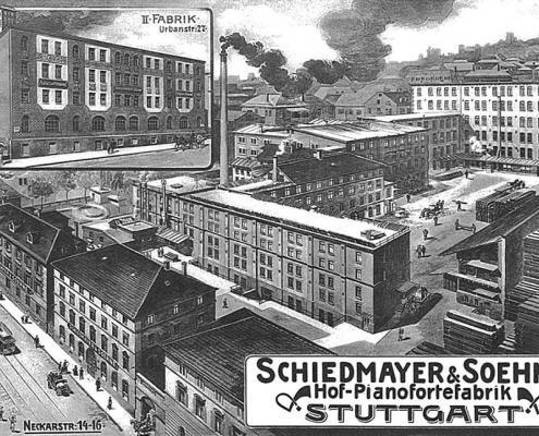 Factory installation of Schiedmayer & Sons 1909