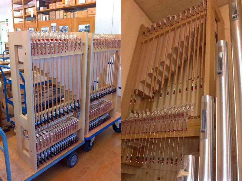 Built-In Celesta for pipe organs