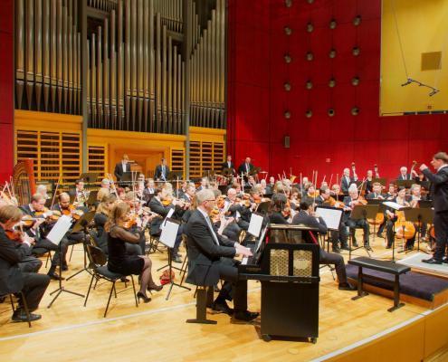 Im Konzertsaal der Hochschule