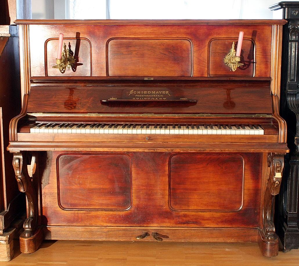 Pianino Schiedmayer Pianofortefabrik Nr. 14493 BJ 1880