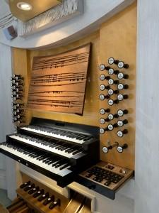 Organ registers front